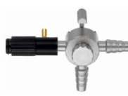 Suction Tube with one lateral trumpet valve, Ø 5 mm, WL 330 mm